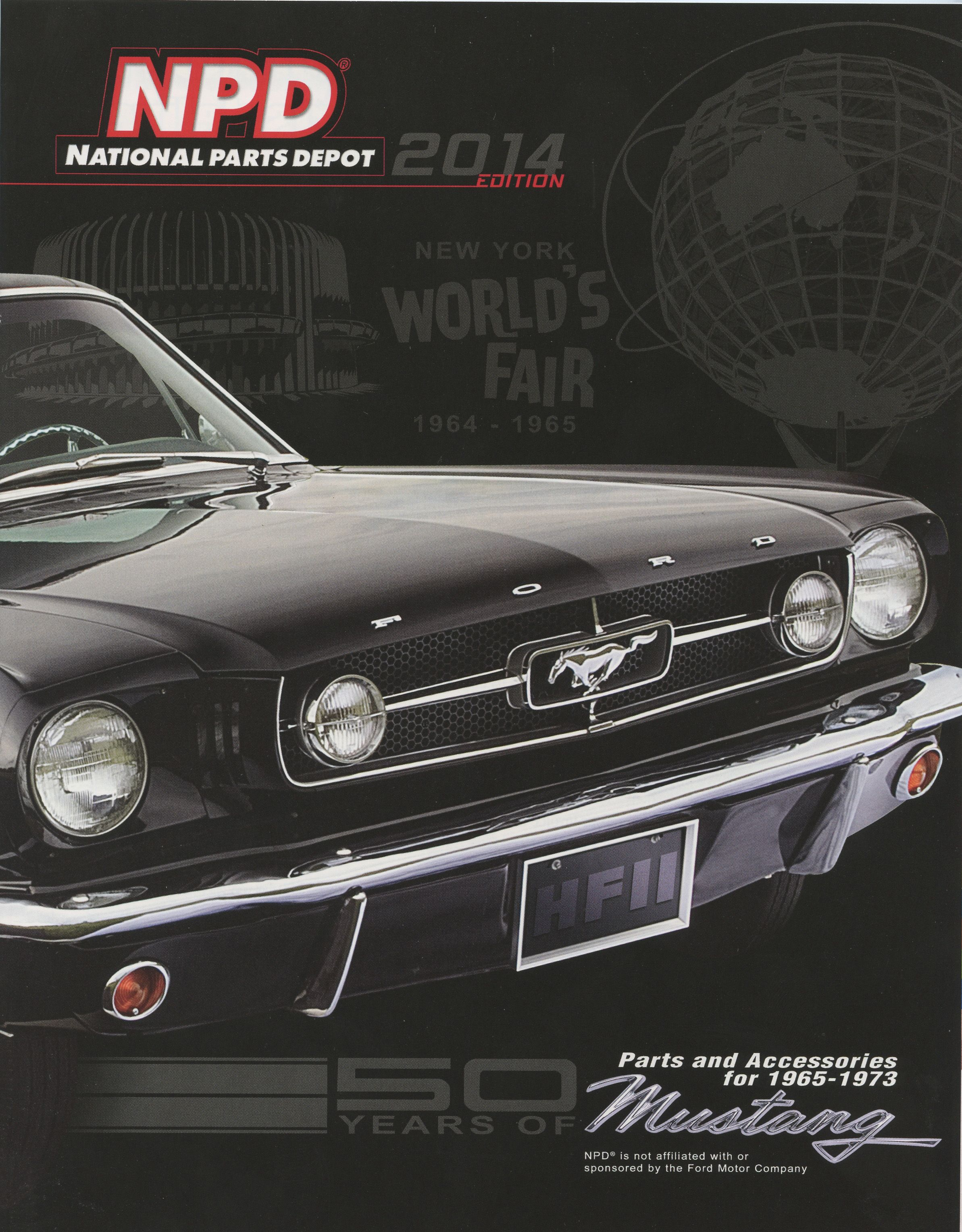 2014 edition of national parts depot classic mustang catalog covers 1964 73 models