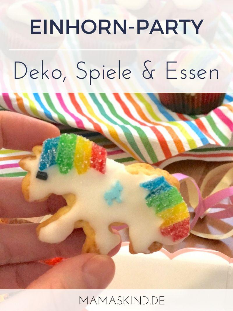 Deko Spiele regenbogen einhorn geburtstag deko spiele kuchen
