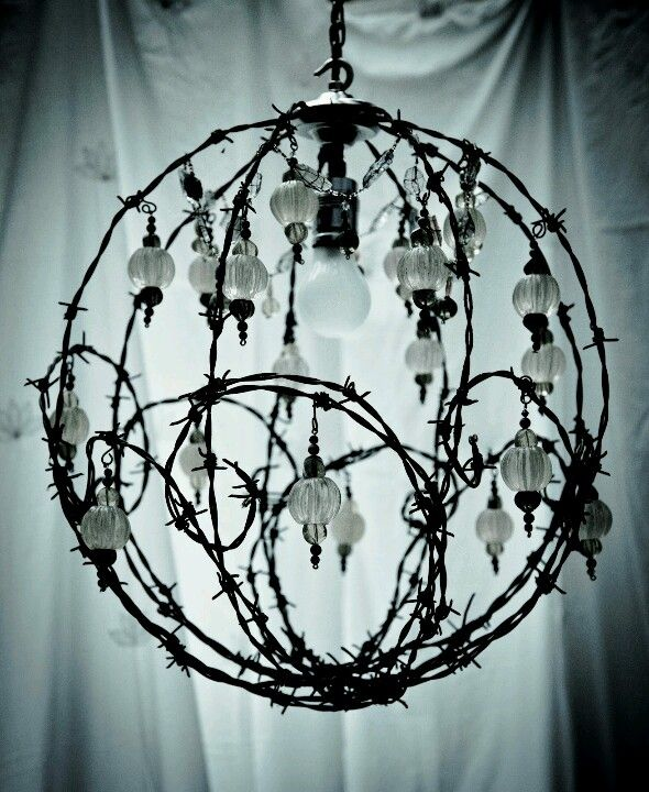 Barbed wire light.