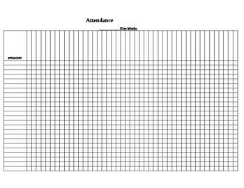 Attendance Log  Attendance Students And Attendance Sheet