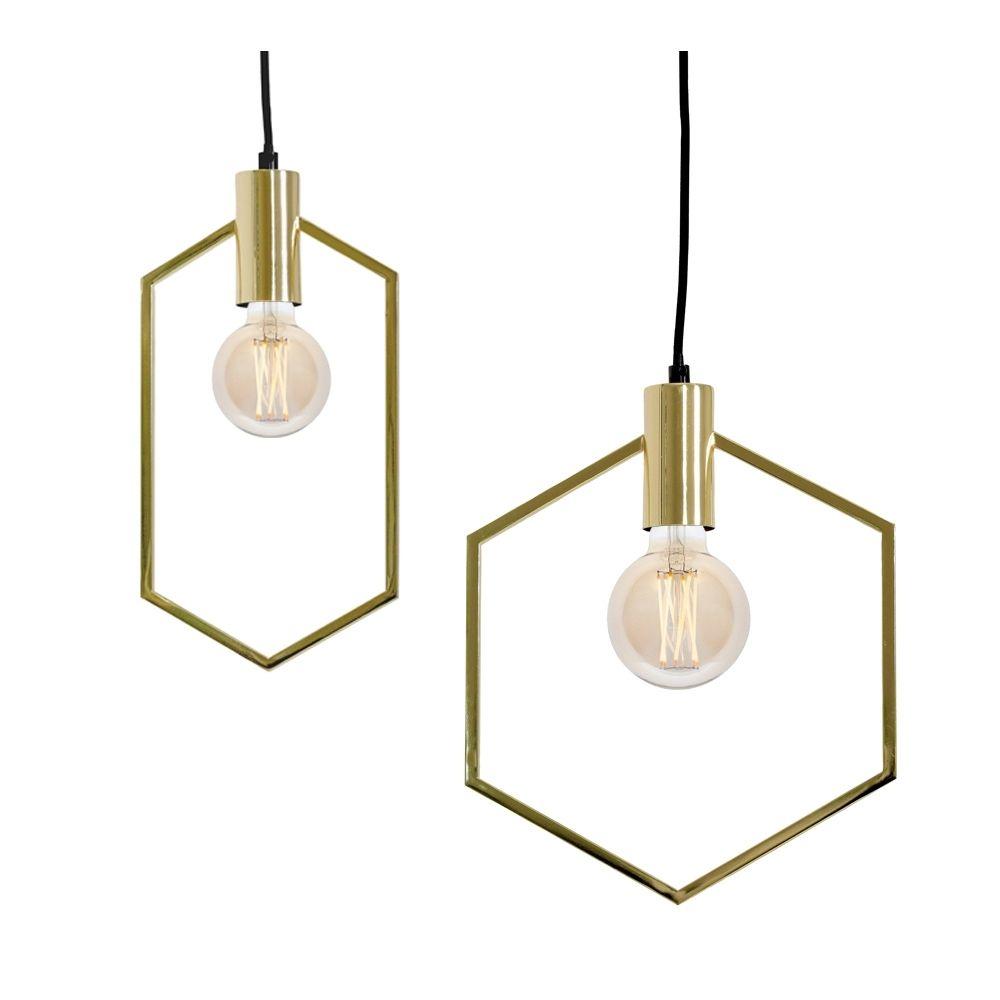 Hexagon Slim Gold Pendant Light Gold Pendant Lighting Pendant Light Gold Hanging Lights