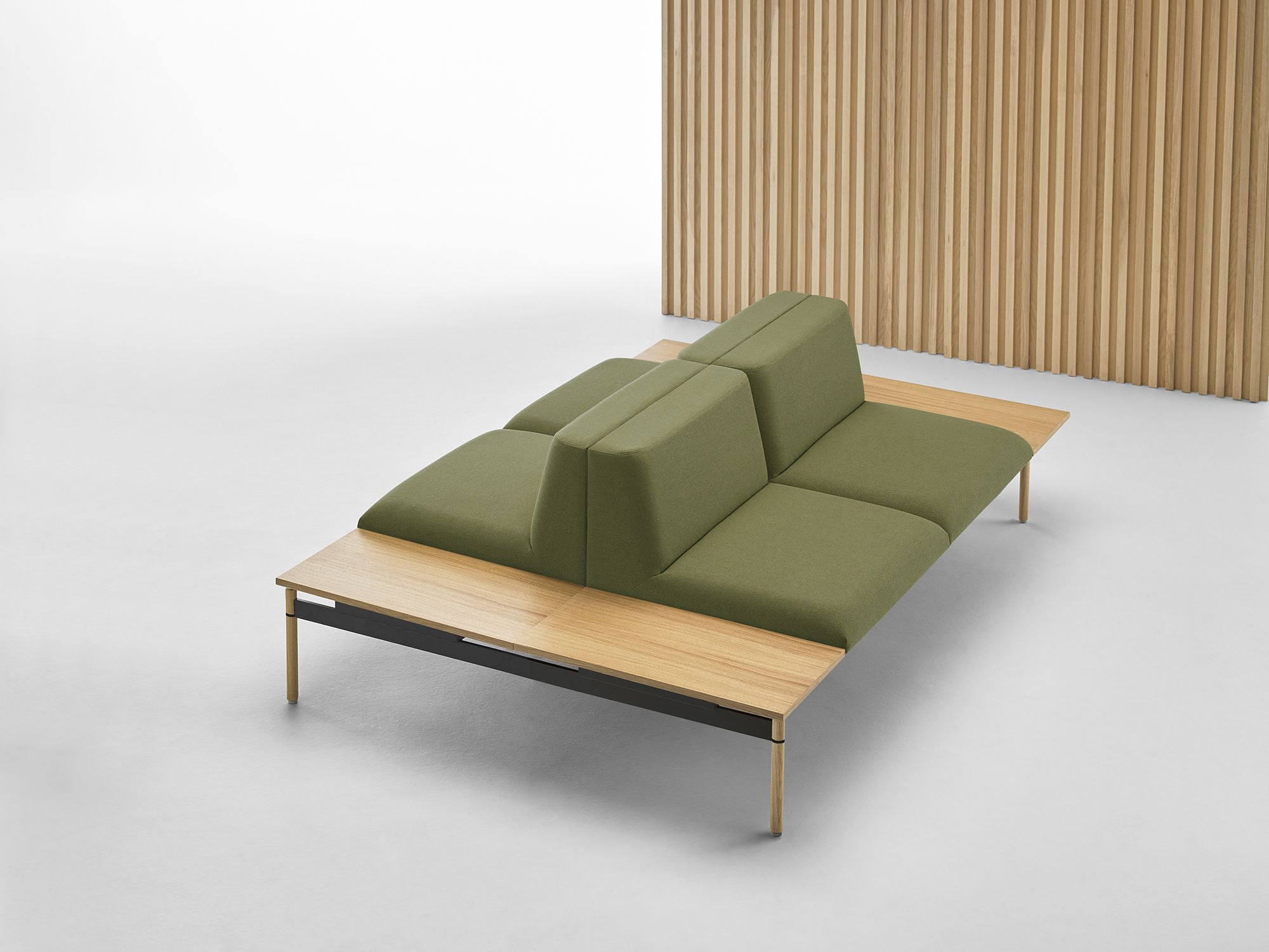 Lapse In Green Designed By Carlos Tiscar The Collection Incorporates Upholstered Seats On A Ste Hospital Furniture Upholstered Bench Hospital Interior Design