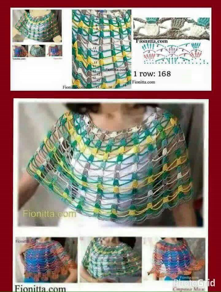 Pin de Andréia Angel en Roupas crochet | Pinterest | Cuellos de crochet