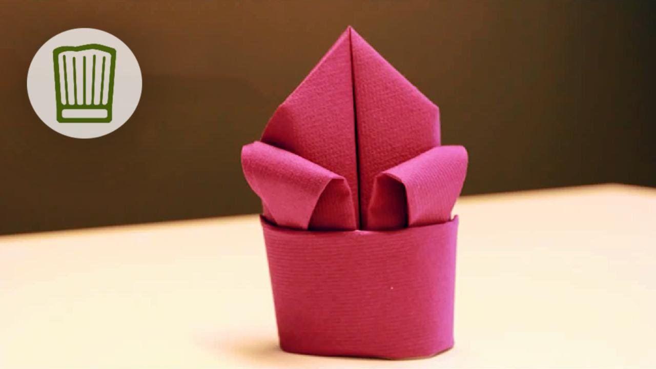 Servietten falten - Die Lilie - Tischdeko selber machen - Video-Faltanle...