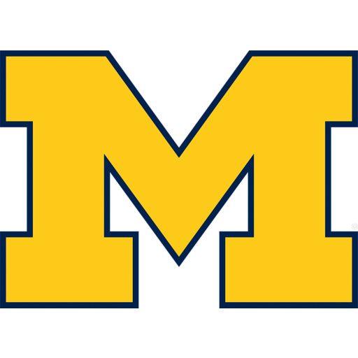 Michigan Wolverines Block M Logo Michigan Football University Of Michigan Logo Michigan Wolverines Football