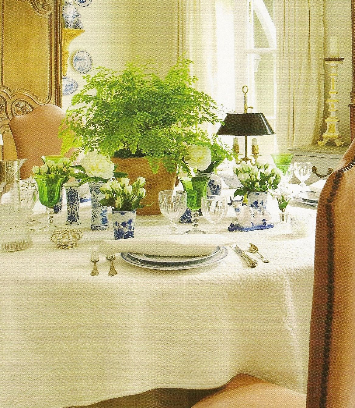 Tables amp chairs children s boxborough library library interiors - Use Of A Maidenhair Fern As The Centerpiece Adds Color And Delicacy Liking The Tiny