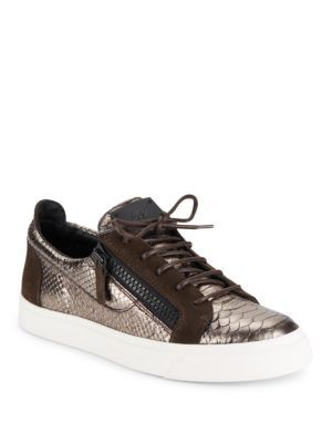 GIUSEPPE ZANOTTI Golia Lizard Style Sneakers. #giuseppezanotti #shoes #sneakers