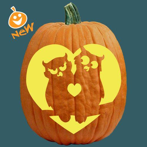 Owl love you forever cute pumpkin carving idea fall pumpkin