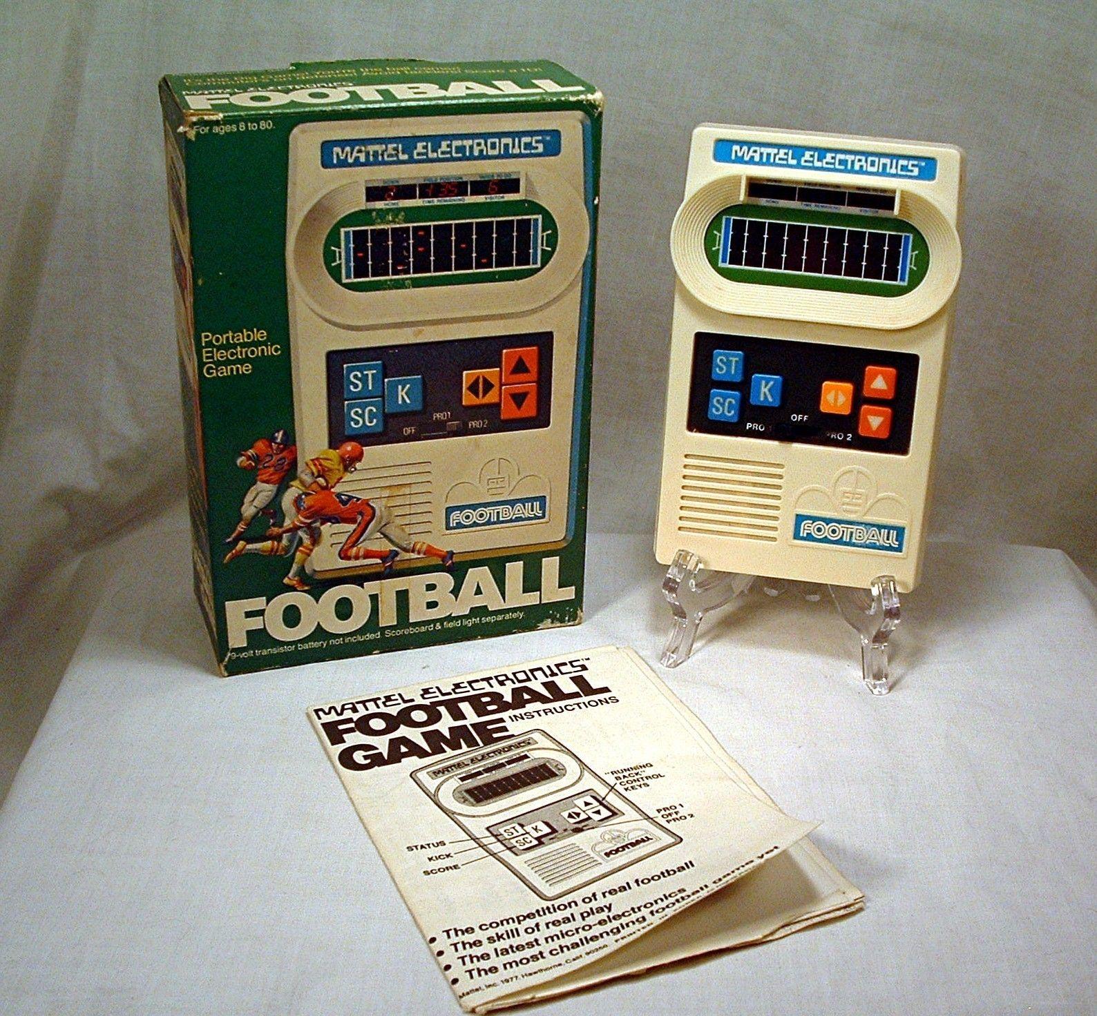Vintage 1977 Mattel Electronic Pocket Football Computer