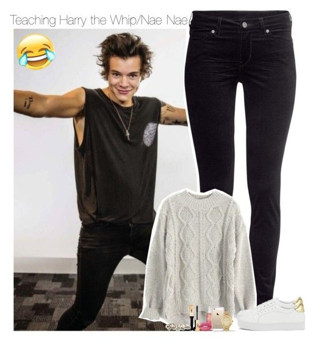 """Having fun with Harry x"" by mickiefantasyworldx ❤ liked on Polyvore featuring H&M, Senso, Lime Crime and Michael Kors"