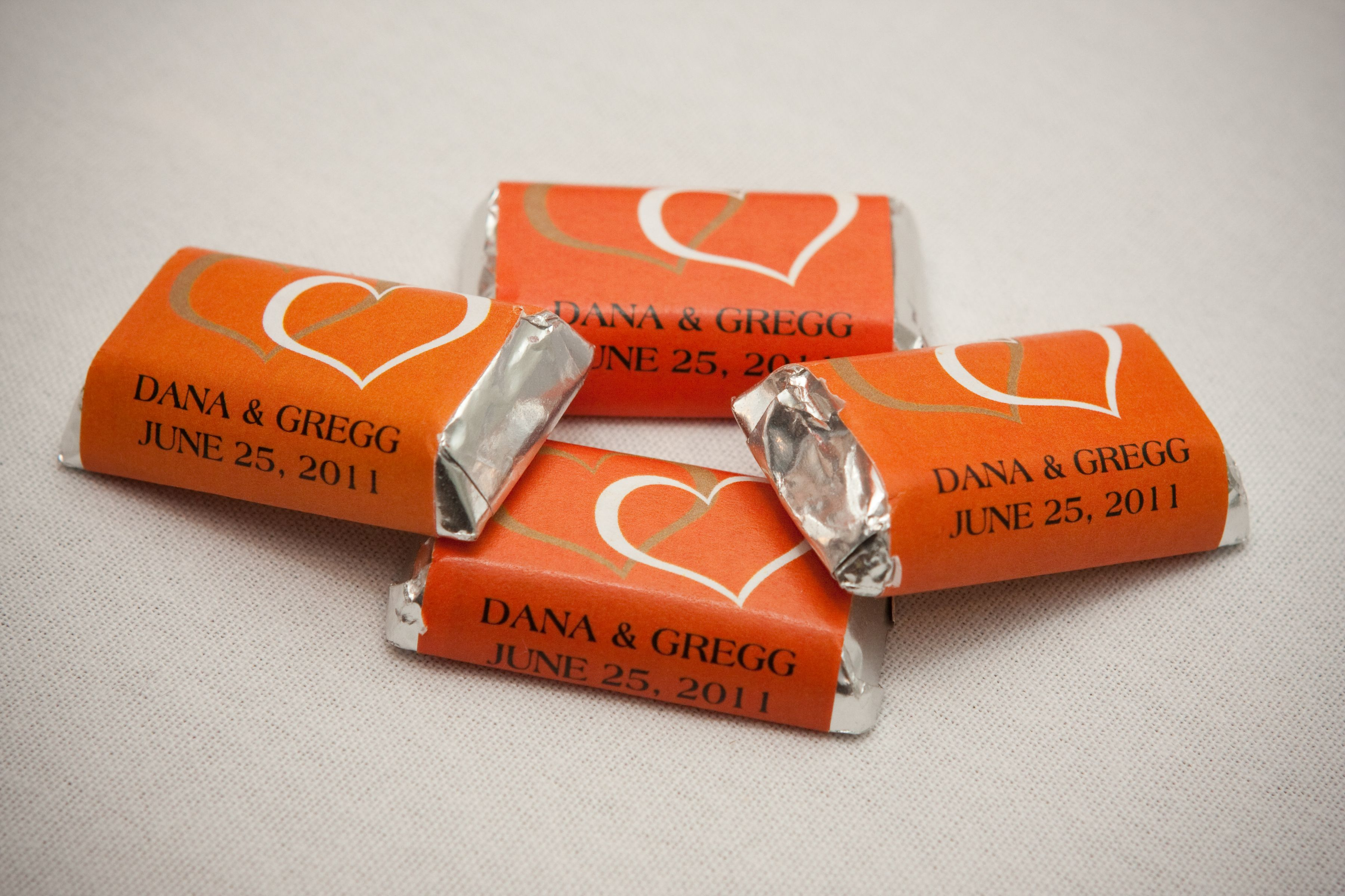 Mini Personalized candy bar wrappers. Cute, tiny and so delish! festiveprint.com