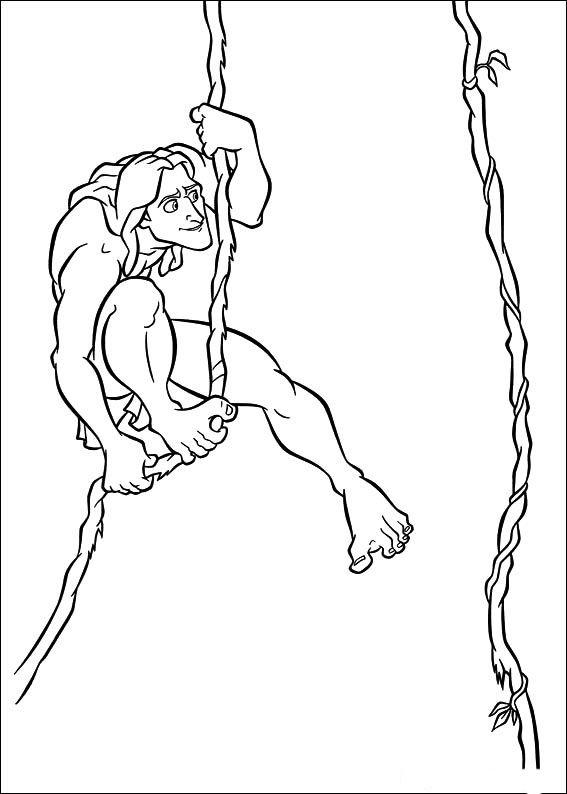 Malvorlagen Tarzan 15 | Ausmalbilder für kinder | Pinterest