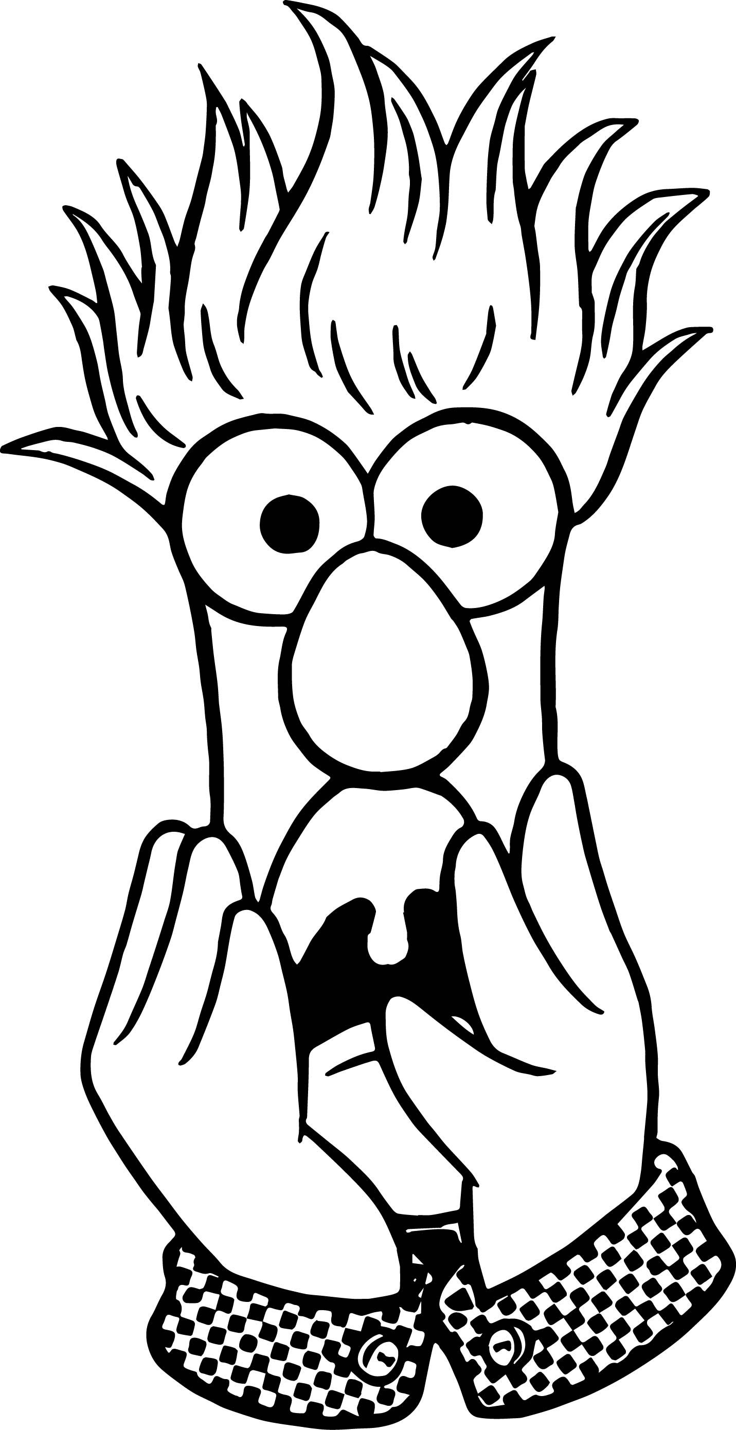 Cool The Muppets Muppets Beaker Fear Coloring Pages Coloring