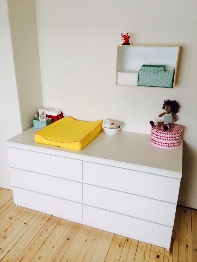 Puslebord pusleplads changing table ikea malm for Kommode ikea malm