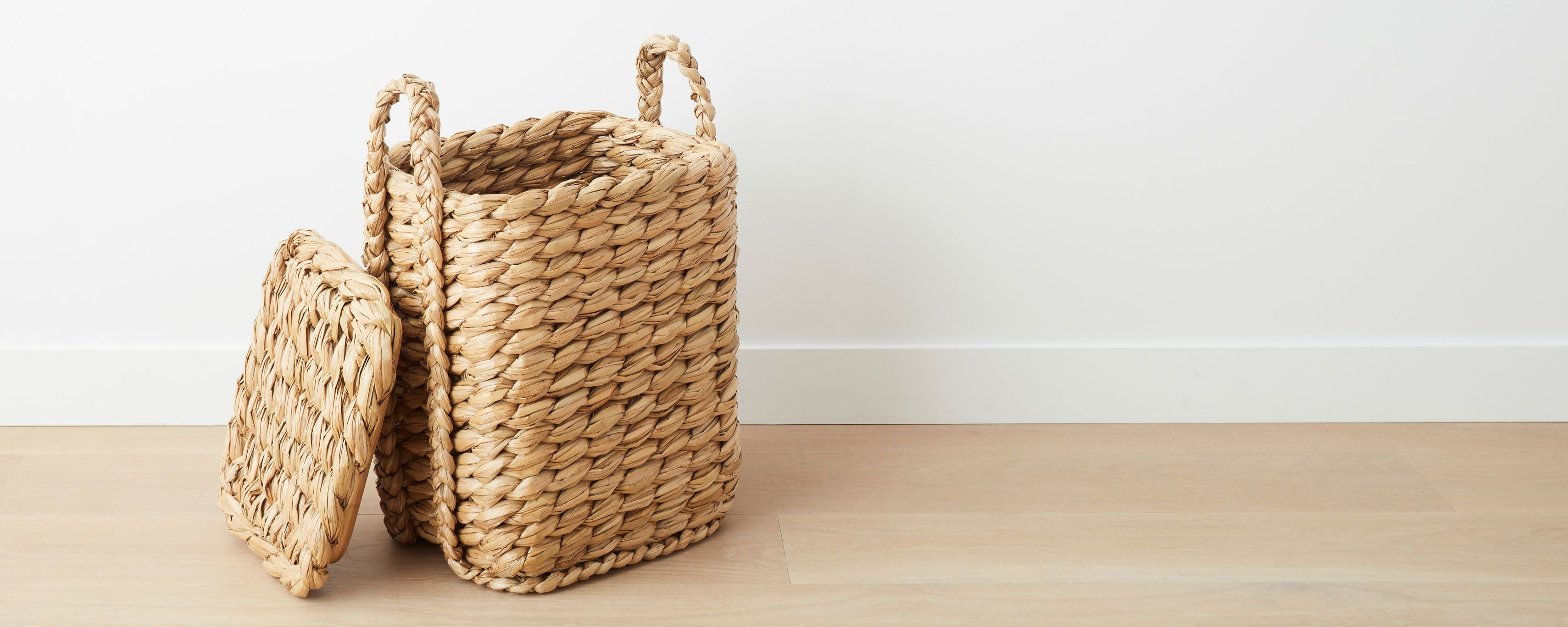 Woven seagrass hamper | Hamper, Bath products and Bathroom accessories
