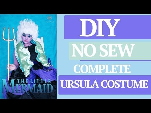 e2498f18620c3 DIY No Sew Ursula's Costume including Wig and EELs - YouTube | Party ...