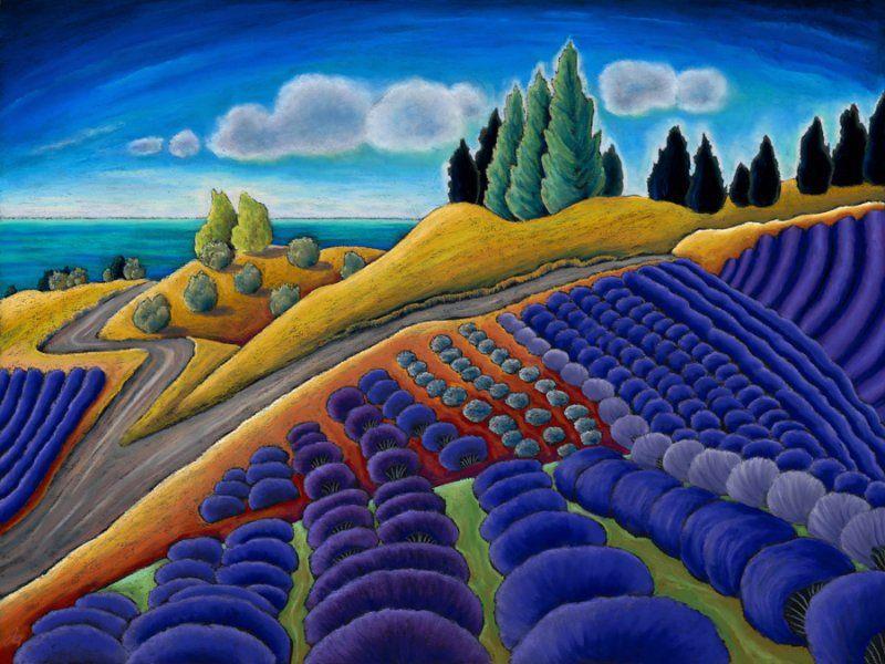 Portfolio Of Past Images Oil Pastel Landscape Art Pastel Landscape