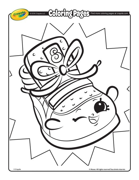 Shopkins Sneaky Wedge On Crayola Com Shopkins Colouring Pages