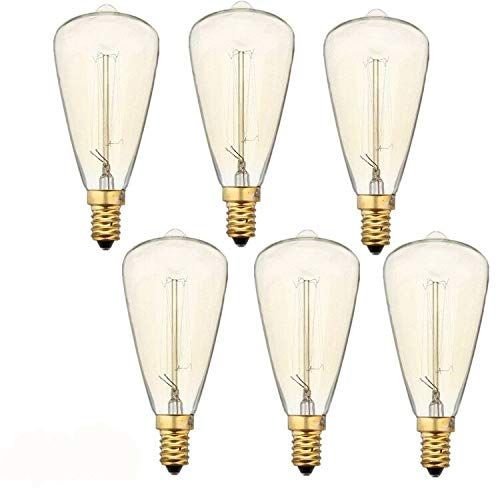Vintage Edison Light Bulbs (E12 Base 60W 2300K),Warm White Nostalgic