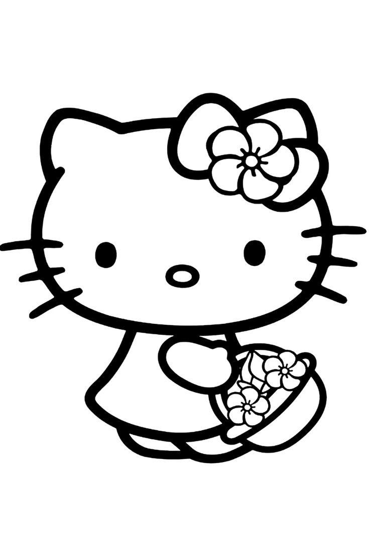 50 Hello Kitty Coloring Pages For Kids Kitty Coloring Hello Kitty Printables Hello Kitty Colouring Pages