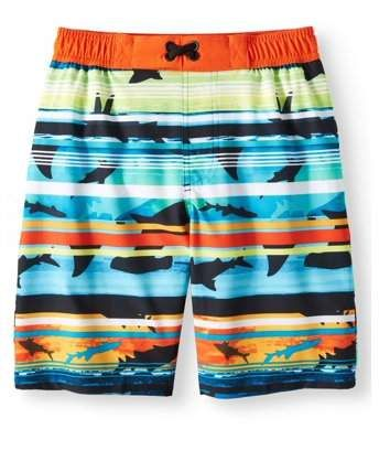 ffc549df69ca0 Trunks Wonder Nation Boys Graphic Swim Trunk (Little Boys & Big Boys ...