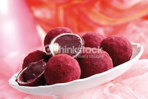 Stock Photo : Pralines stuffed with pulp