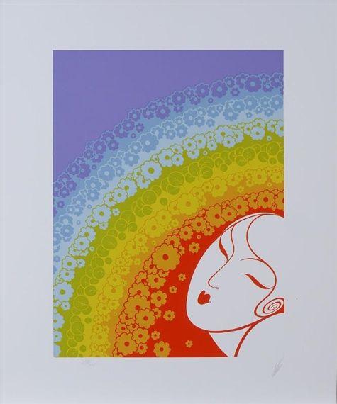 Erté, Rainbow in Blossom