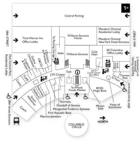 Shops at Columbus Circle NYC highrise Pinterest