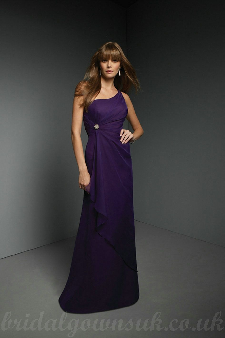 Deep purple one shoulder chiffon beading waist modest bridemaid deep purple one shoulder chiffon beading waist modest bridemaid dresses 2011 ombrellifo Images