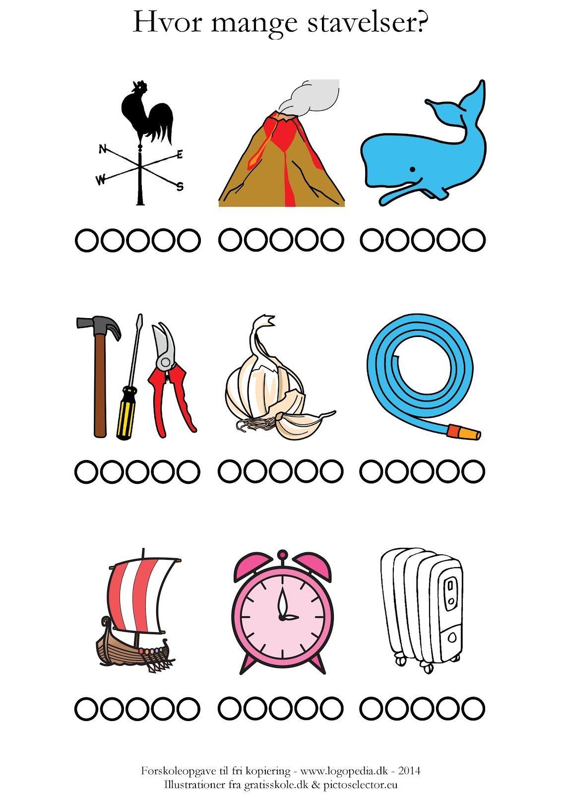 Hvor mange stavelser er der? /v | Dansk | Pinterest | Education, Teaching og School