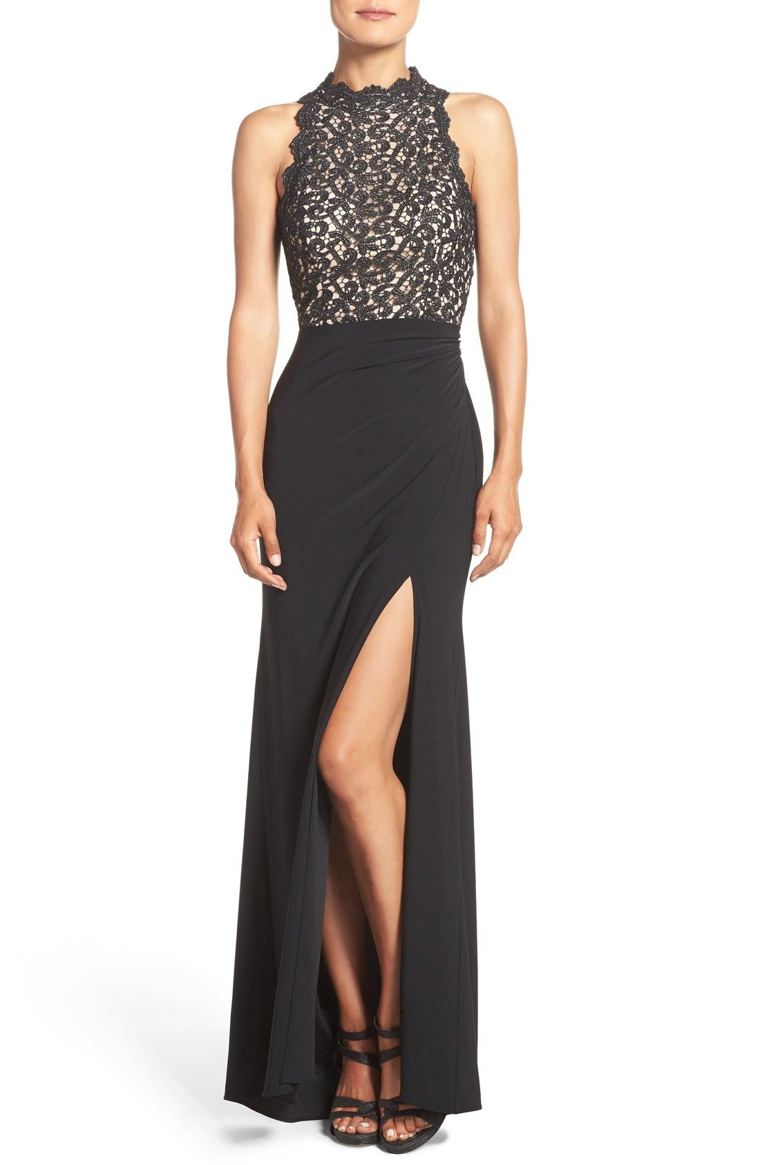 Xscape shimmer lace gala pinterest petite gowns and nordstrom