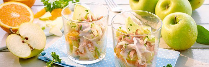 Rezept Garnelen-Cocktail mit Äpfeln und Orangenfilets | ♥ Fisch ...