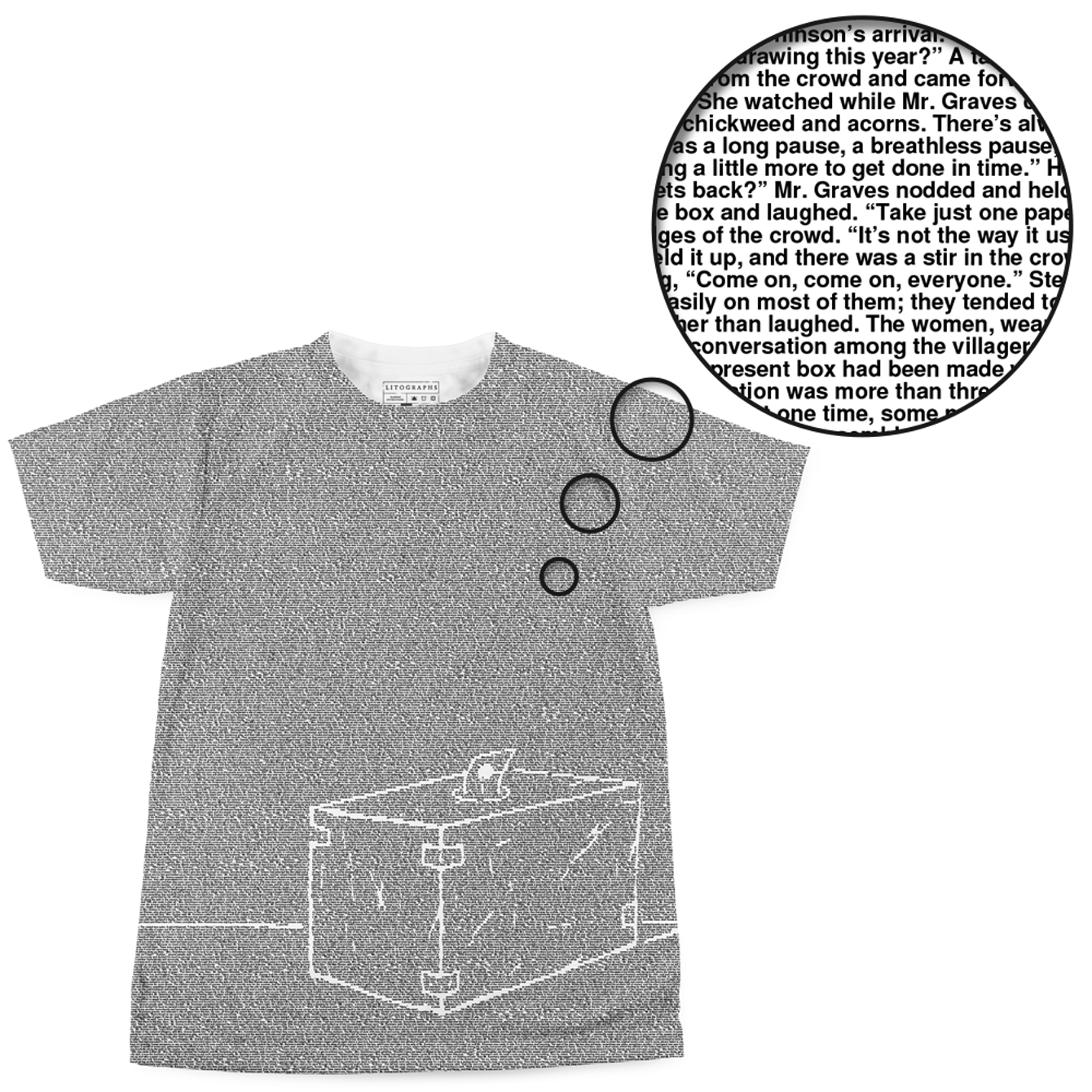 Created from the text of The Lottery Shirts, T shirt, Tops
