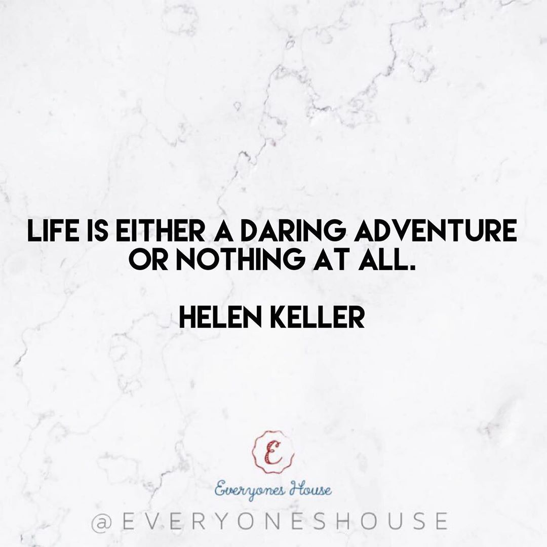 Life is either a daring adventure or nothing at all. • Helen Keller💘 .  #motivation #fitness...