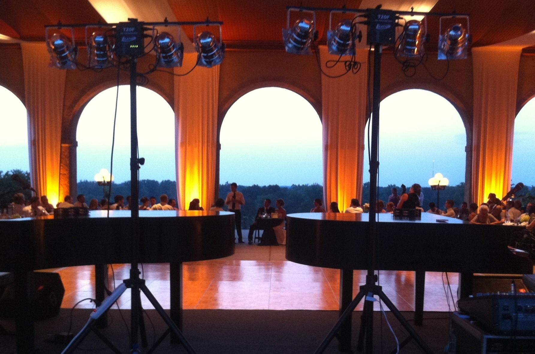 Dueling Pianos For Wedding Reception By Y Entertainment At The World S Fair Pavilion In Forest Park