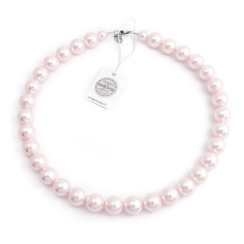 56340d7e3b7 Roze parel ketting met 12 mm rosalin parels | Roze - Jewelry, Pearls ...