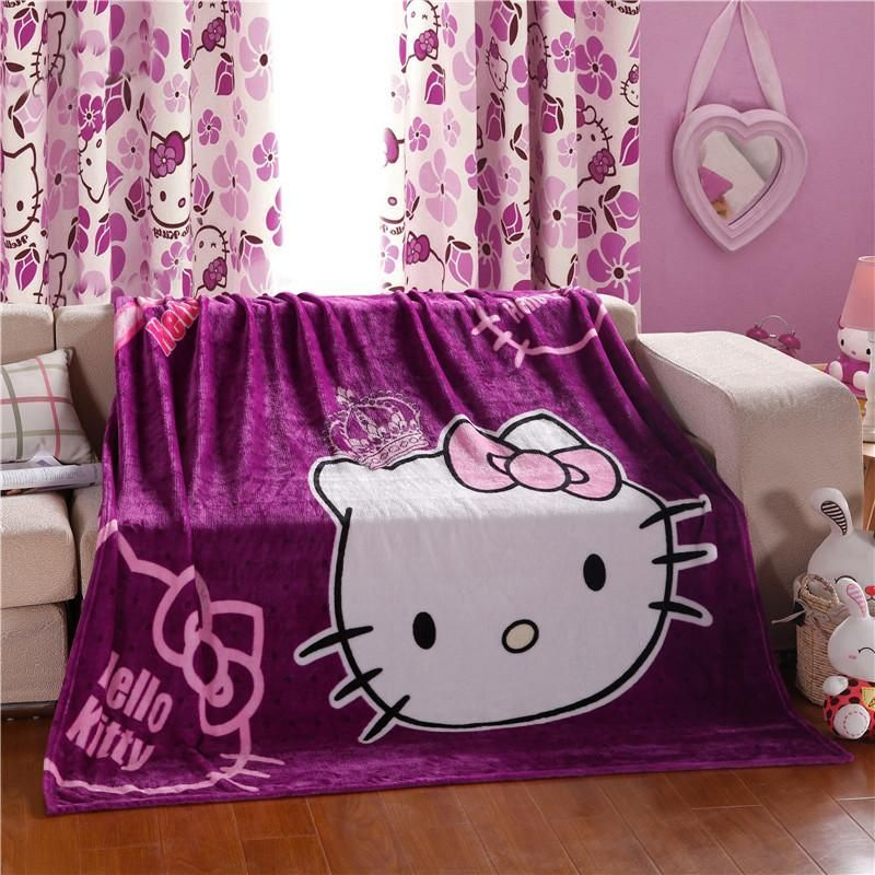 Hello Kitty Fleece Deken.Hello Kitty Plush Flannel Blanket For Kids Twin Hello