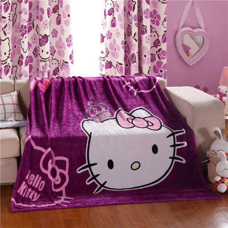 Hello Kitty Fleece Deken.Hello Kitty Plush Flannel Blanket For Kids Twin Hello