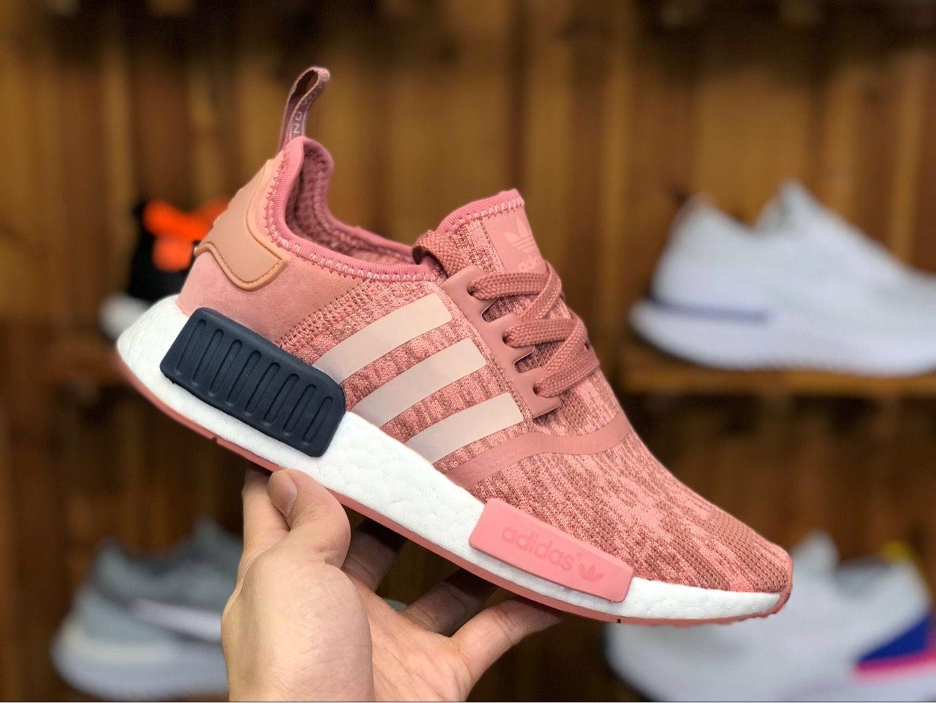 cf2f052a5dc24 65 Adidas Originals NMD R1 Primeknit Raw Pink Sneakers