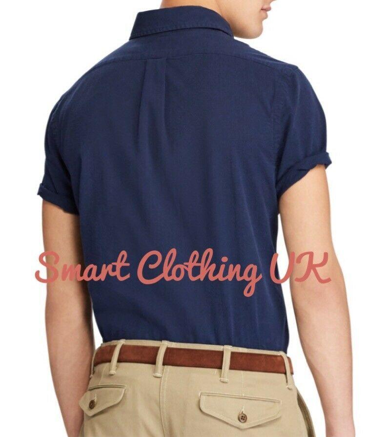 Details About Ralph Lauren Men S Seersucker Short Sleeve Shirt