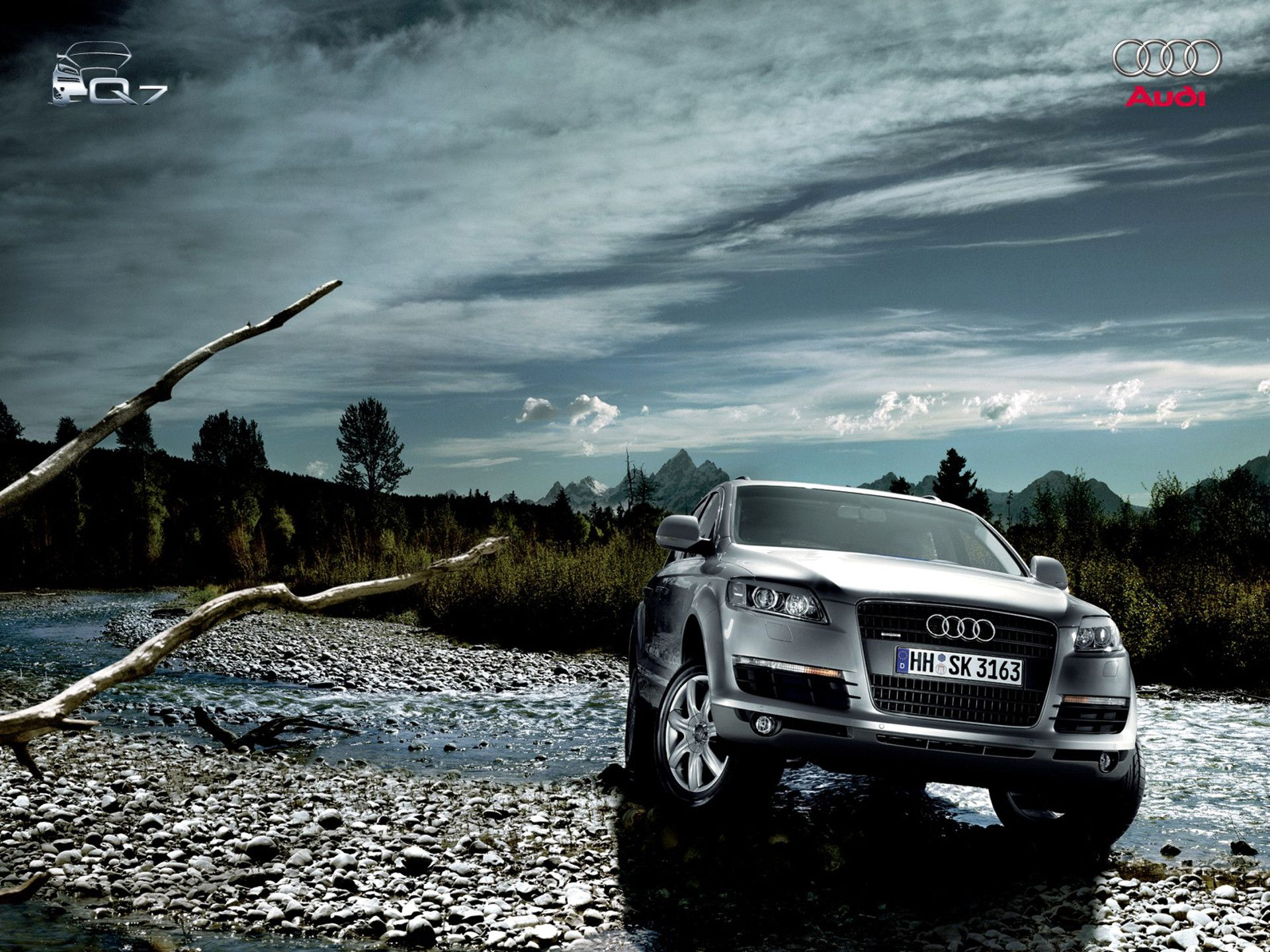 Audi Q7 In Nature Hd Wallpaper And More Car Pictures On Www