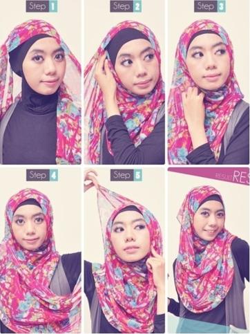 Tutorial Hijab Paris Segi Empat Kepang Hijab Warna Kepang