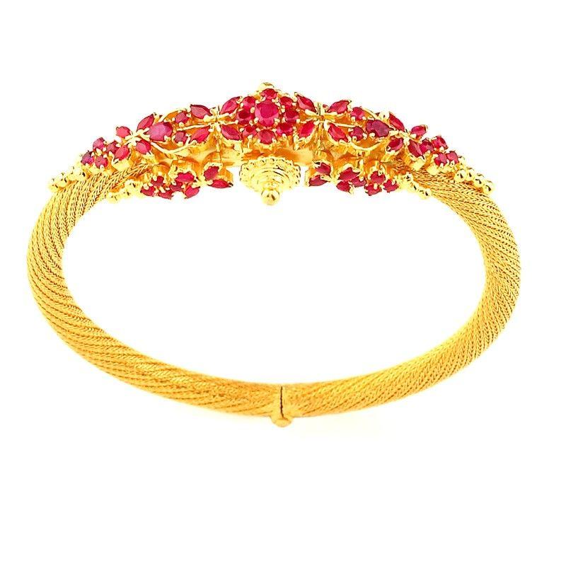 463d4f17268 27.98 grams Traditionally Handmade Ruby Kada Bracelet Rs. 89,623.00 ...