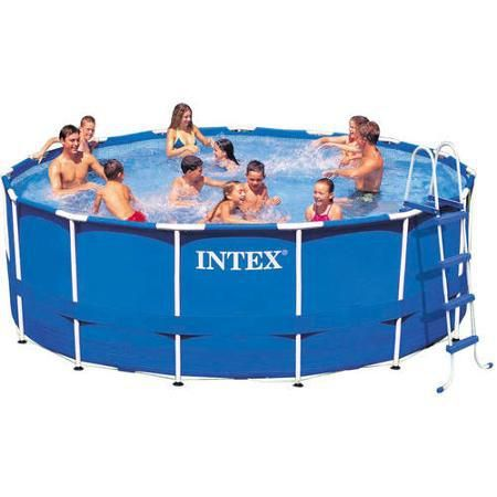 Intex 15 X 48 Metal Frame Swimming Pool Clearance 199 00 Was 399 00 Best Above Ground Pool Above Ground Swimming Pools Intex