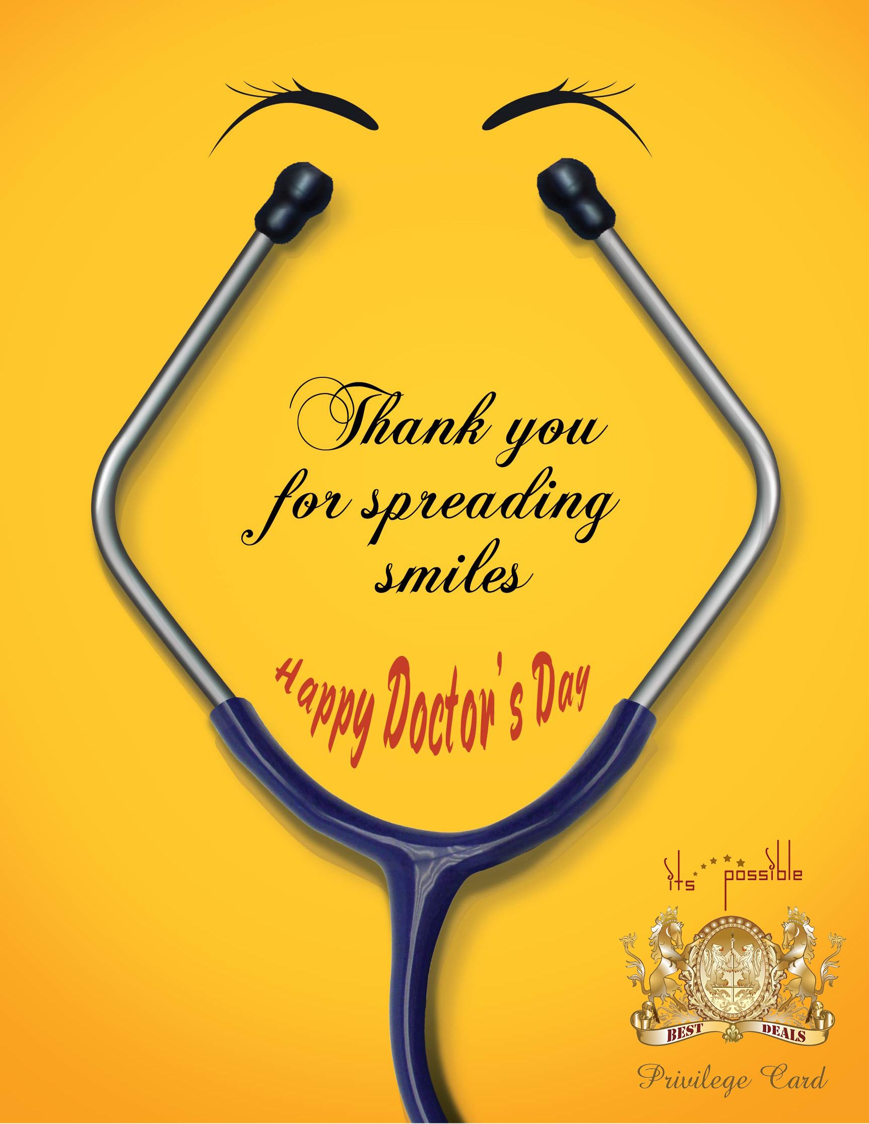 Thank You For Spreading Smiles Happy Doctors Day To All