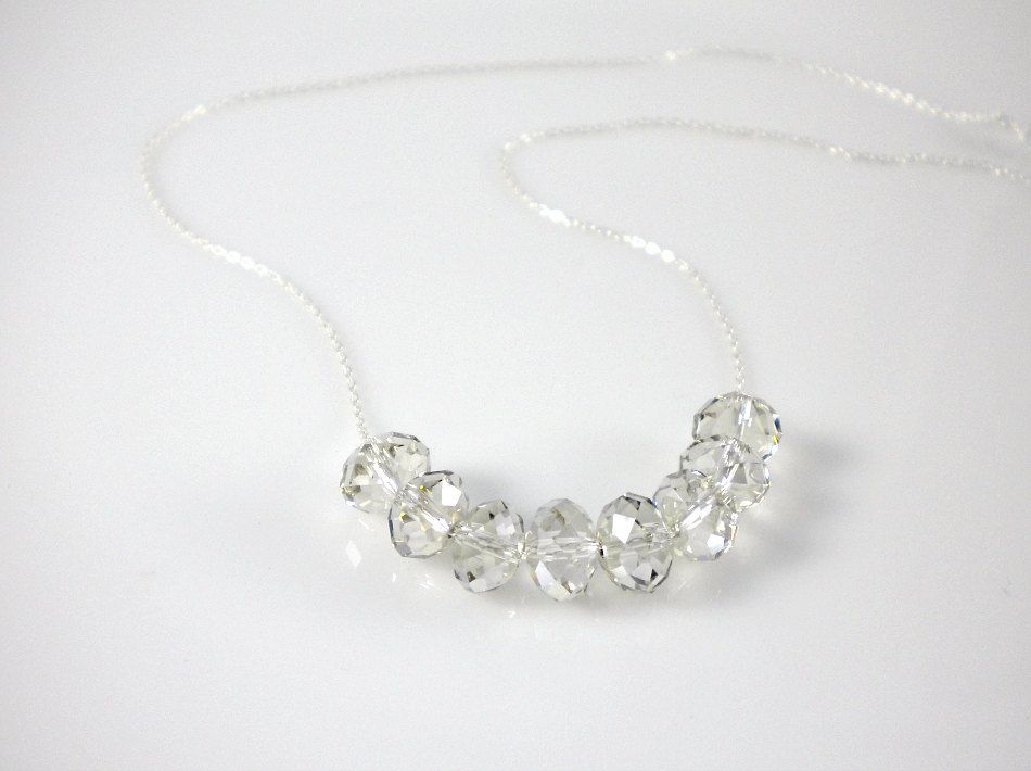 Sterling silver with Swarovski crystal silver shade or by AraMarie// I want both styles of this necklace.