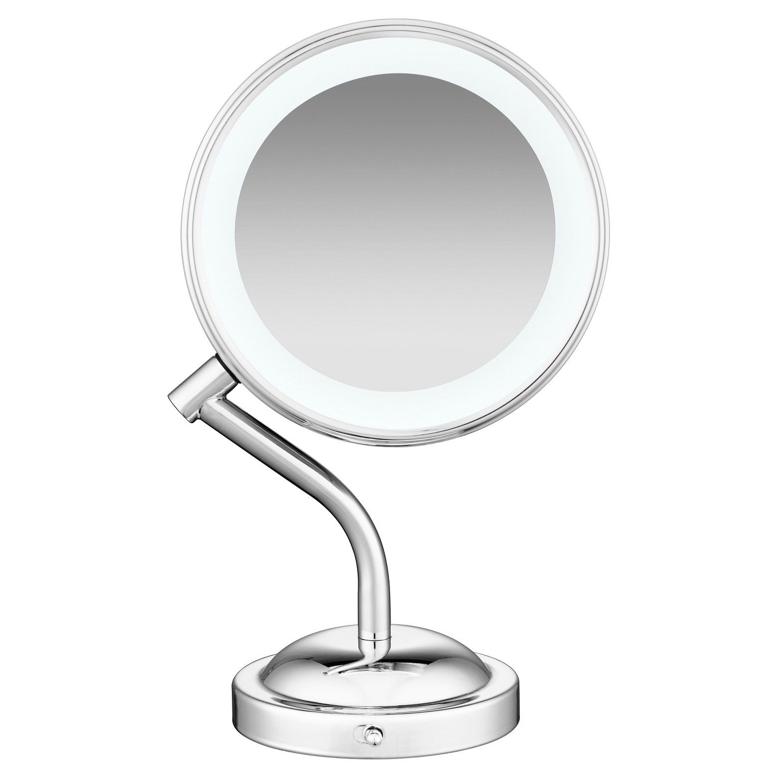 The Curved Stem Stand Up Led Lighted Mirror By Conair Has 2 Sided