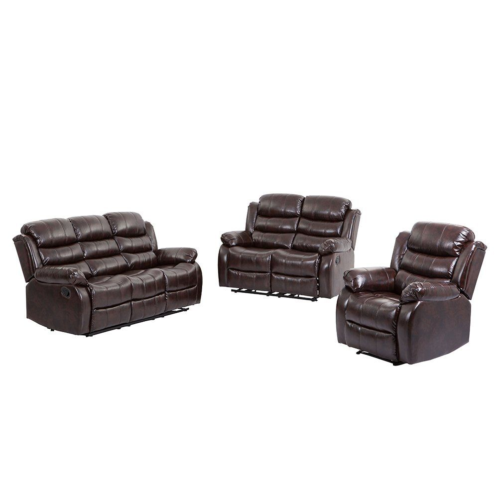 Bestmassage Living Room Set Loveseat Chaise Reclining Couch