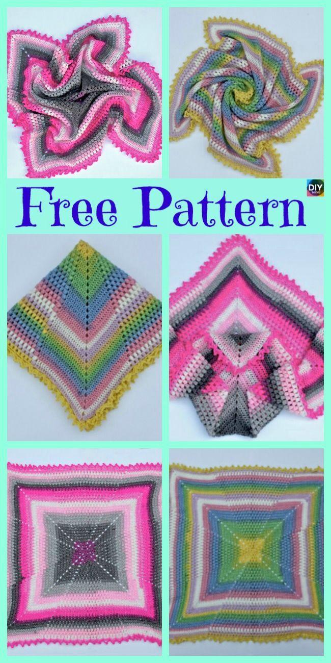 Crochet Pineapple Baby Blanket - Free Pattern en 2018   crochet ...