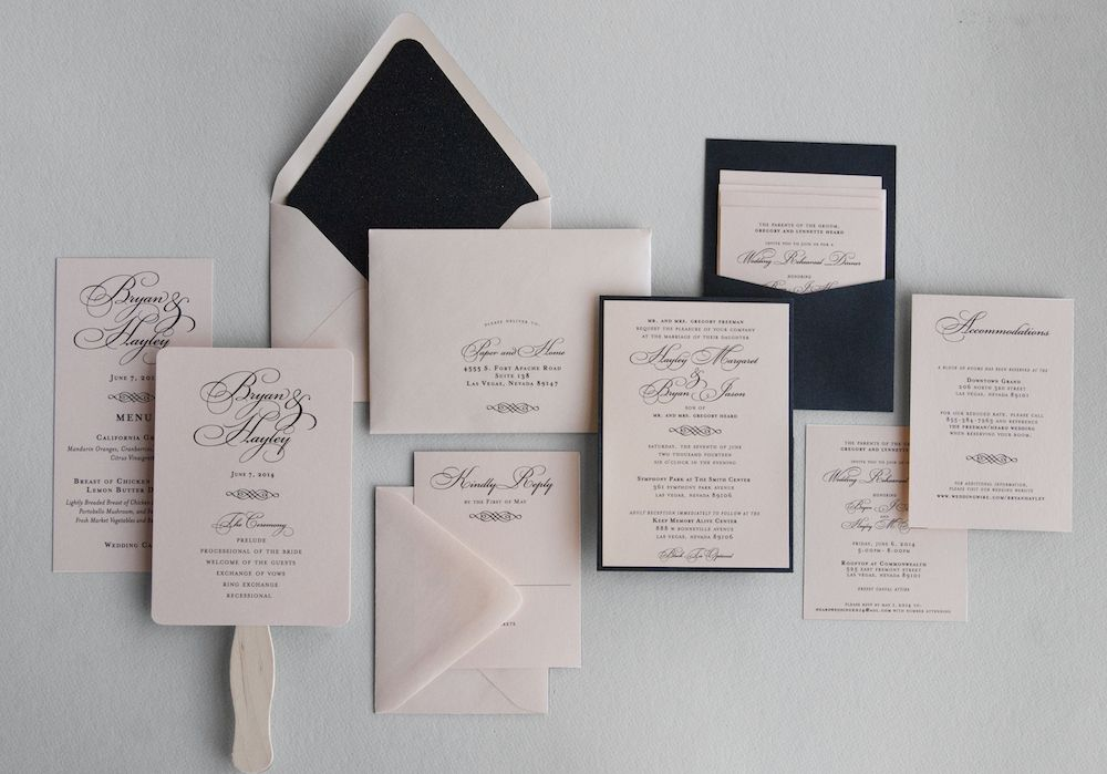 Glamorous Wedding Invitations Hayley Bryan